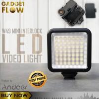 LED Lighting Lampu Video Light Kamera DSLR VLOG Fotografi Andoer W49