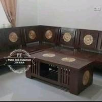 Furniture Jepara Kursi Sudut Ruang Tamu Kayu Jati