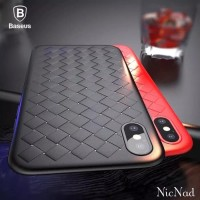 Casing iPhone X Baseus BV Weaving Phone Case - Original - Hitam