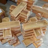 Baki Kayu / Nampan Kayu / Tray Kayu Pinus Mini Serbaguna 32 x 10 x 3