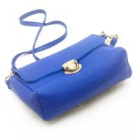 tas wanita kulit asli - tas kulit asli wanita warna biru branded local