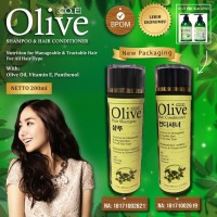 PAKET OLIVE HAIR SHAMPOO & CONDITIONER KOREA BPOM