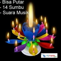 14 Sumbu Lilin Musik Teratai Pesta Nyanyi Lilin Bunga Candle Music