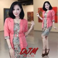 Kebaya jadi lengan pendek Kutu Baru Batik stelan modern blouse dress