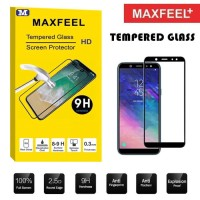 Samsung A6 - A6 Plus 2018 MAXFEEL Ful Cover Tempered Glass Premium