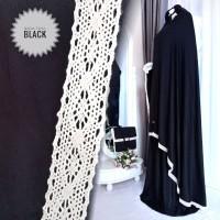 Mukena Rayon Twill Eksklusif Black