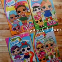 Buku Mewarnai MURAH (LOL/Frozen/Hello Kitty/Barbie/Ultraman/Tayo, dsb)