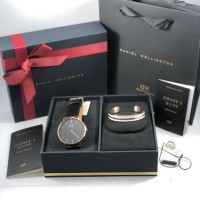 Daniel Wellington Classic Sheffield Black Rosegold + Bracelet