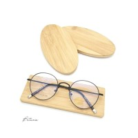 Frame Kacamata Minus Clasy Bulat Kekinian   Lensa Antiradiasi
