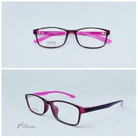 Frame Kacamata Minus Wanita SIMPLE FLEXIBLE   Lensa Antiradiasi