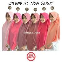 Jilbab Instan NON SERUT Size XL bahan Kaos PE murah seri Pink