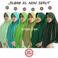 Jilbab Instan NON SERUT Size XL bahan Kaos PE murah Seri Hijau