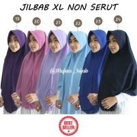 Jilbab Instan NON SERUT Size XL bahan kaos PE murah Seri Ungu biru