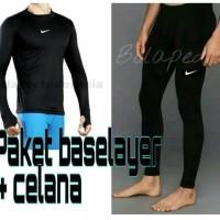 Paket celana baselayer manset nike adidas renang diving gym legging