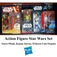 Star Wars Action Figure Set (Sarco Plank, Kanan Jarrus, Princess Leia)