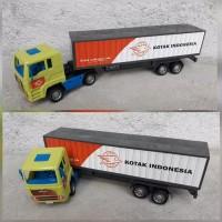 Mainan Truk Kontainer Anak Edukasi Mobil Mobilan Trailer Truck