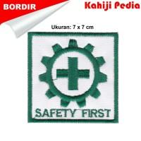 Patch bordir emblem bordir logo k3 safety first