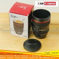 Mug Gelas Plastik Lensa Kamera 400ml Mirip Canon 24-105mm F4 Murah