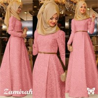 Hijab Maxy Zamirah 3in1 Peach