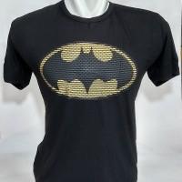 Kaos Tshirt Batman Logo New Superhero Baju Big Size XXXL Rhymes Import - Hitam, L