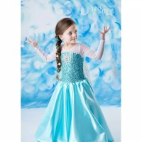 Dress anak sz 2-7th baju pesta anak cewek karakter frozen elsa 2