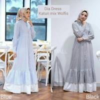 BAJU MUSLIM DRESS MUSLIM GAMIS Dia dress - Trend fashion muslim 2019