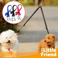 Tali Tuntun Anjing Dua Kepala/Double/Kembar/Dog Twins Leash Heads