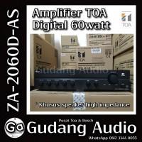Toa Mixer Amplifier ZA-2060 D-AS (60watt) untuk impedansi tinggi