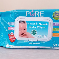 TISSSUE BASAH HAND AND MOUTH 60S PURE BABY