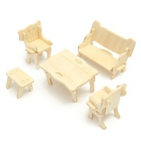 DIY Mini 34pcs/set Kids Educational Doll House Accessories