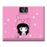 HOT SALE Timbangan Badan Mini Digital Desain Kartun 180Kg - Pink