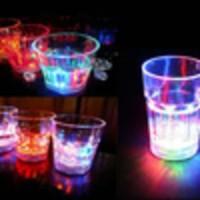 Ns08 - Gelas Minum Sensor Air Led Berubah 7 Warna Kecil Cafe Disko