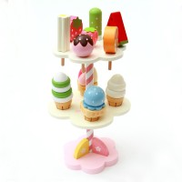 Original New Wooden Kids Toy Play House Strawberry Ice Cream Stand
