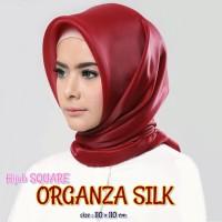 Jilbab Organza silk Segiempat Grosir murah 1 kg muat 10 pcs