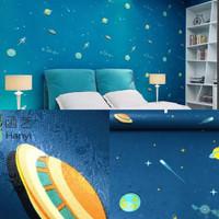 Grosir Murah Wallpaper Sticker Dinding Biru Pelangi Abstrak 10 M