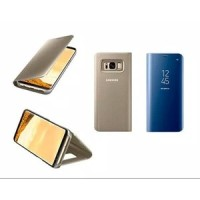 FLIP COVER OPPO A83 NEW HOT SMART CLEAR TRANSPARAN VIEW STANDING WALET