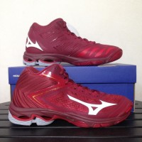 Sepatu Volly Mizuno Wave Lightning Z5 Mid Rio Red V1GA190563