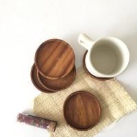 Tatakan gelas kayu jati 9 cm | Teak wood coaster