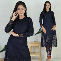 Setelan Kebaya Brukat Long Tunik 4 pilihan warna