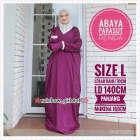 ARL size L Abaya Parasut Premium Renda Mukena Ponco