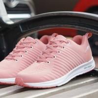 sepatu sneakers casual running adidas zoom pink peach cewek women