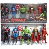 Mainan Figure Superhero SpiderMan Captain America Iron Man Superman