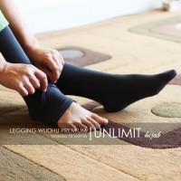 LEGGING WUDHU ORIGINAL by UNLIMIT hijab | Leging Wudhu Premium - Hitam
