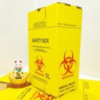 SAFETY BOX 5 liter warna kuning+ tali | Tempat sampah medis