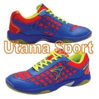 Sepatu Bulutangkis Badminton Shoe Flypower Dieng Blue & Citrus e