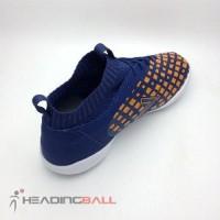 Sepatu Futsal Mitre Original Invader IN Navy Citrus Orange T01040