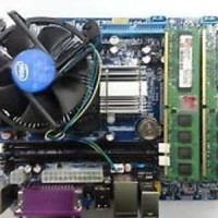Paket Motherboard Lga 775 G31 + E7500 + Fan + Hdd 80 Gb + Memory 2 Gb