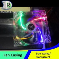 [ 8cm ] Fan Casing Lampu LED Kipas Pendingin Komputer CPU Cooler Case