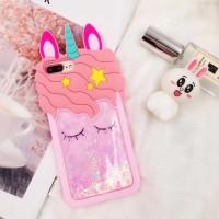 Casing Soft Case Samsung S8 S9 Plus Note 8 Liquid Quicksand Unicorn