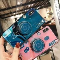 Samsung S7 edge S8 S9 Plus Note 8 9 Camera Pattern Pop up Holder Case
